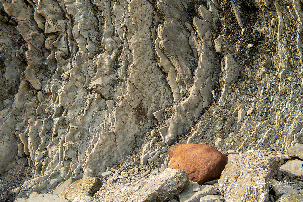 Uplifted strata at Green Point, Gros Morne National Park, Newfoundland and Labrador NL, Canada