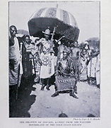 The Omanhin Of Insuain, A Chief From The Eastern Hinderland Of The Gold Coast  [Ghana] Colony From the Book '  Britain across the seas : Africa : a history and description of the British Empire in Africa ' by Johnston, Harry Hamilton, Sir, 1858-1927 Published in 1910 in London by National Society's Depository