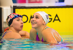 Chloe Tutton celebrates after coming second in the Women's 100m Breastroke final during day two of the 2018 EISM and British Championships at the Royal Commonwealth Pool, Edinburgh.