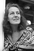 Australian feminist, writer and intellectual photographed by Jayne Fincher at her home in London in October 1983