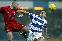 QPR V HARTLEPOOL UNITED<br />PHOTO'S BY GERARD FARRELL / SPORTSBEAT IMAGES<br />DATE:13/12/2003.<br />Michael Nelson beats Tony Thorpe to the ball