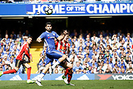 Chelsea Forward Diego Costa (19) watches the ball in to the box during the Premier League match between Chelsea and Sunderland at Stamford Bridge, London, England on 21 May 2017. Photo by Andy Walter.