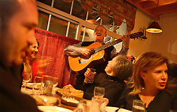 Lebanese residents of all religions enjoy music and food at the Armenian restaurant Al Mayass, located in the predominantly Christian neighborhood of Ashrafieh in Beirut, Lebanon, March 27, 2006.