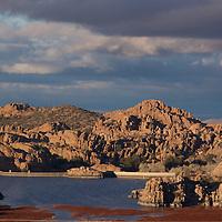 Evening Light graces the Dells by Watson Lake in Prescott, Arizona.