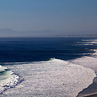 USA, California, Encinitas. View north from Beachon's Beach, Leucadia (Encinitas).