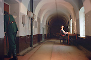 Saint Petersburg, Russia, June 2002..The prison cells of Peter Paul Fortress where Peter the Great oversaw the torture to death of his own son. The cells were used as a political prison in Tsarist times...