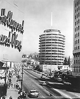 1959 Capitol Records Tower from Hollywood Blvd & Vine St.