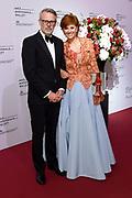 Gala van Het Nationale Ballet in de Stopera, Amsterdam.<br /> <br /> Op de foto:  Chazia Mourali en partner Marc Schroder