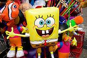 SpongeBob SquarePants balloon street concession stand. Grand Old Day Street Fair St Paul Minnesota USA