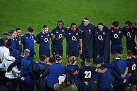 Rugby Union - 2020 Autumn Nations Cup - England vs Georgia - Twickenham<br /> <br /> England's Maro Itoje and Mako Vunipola speak to the team after the game.<br /> <br /> COLORSPORT/ASHLEY WESTERN