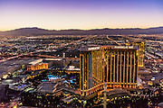 Aerial view of Mandalay Bay Resort and Casino, Las Vegas, Nevada, USA