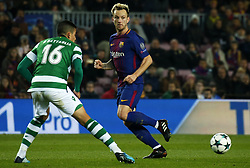 December 5, 2017 - Barcelona, Catalonia, Spain - Ivan Rakitic and Rodrigo Battaglia during the UEFA Champions League match between FC Barcelona v Sporting CP, in Barcelona, on December 05, 2017. (Credit Image: © Joan Valls/NurPhoto via ZUMA Press)