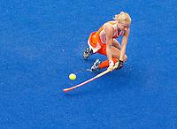 ARNHEM - Maarje Goderie, donderdag tijdens de oefenwedstrijd tussen de vrouwen van Nederland en Zuid Afrika. COPYRIGHT KOEN SUYK