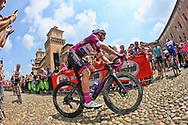 Start Elia Viviani (ITA - QuickStep - Floors) during the 101th Tour of Italy, Giro d'Italia 2018, stage 13, Ferrara - Nervesa della Battaglia 180 km on May 18, 2018 in Italy - Photo Ilario Biondi / BettiniPhoto / ProSportsImages / DPPI