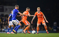 Blackpool's Jay Spearing vies for possession with Ipswich Town's Cole Skuse<br /> <br /> Photographer Chris Vaughan/CameraSport<br /> <br /> The EFL Sky Bet League One - Ipswich Town v Blackpool - Saturday 23rd November 2019 - Portman Road - Ipswich<br /> <br /> World Copyright © 2019 CameraSport. All rights reserved. 43 Linden Ave. Countesthorpe. Leicester. England. LE8 5PG - Tel: +44 (0) 116 277 4147 - admin@camerasport.com - www.camerasport.com