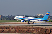 Israel, Ben-Gurion international Airport Sun D'Or International Airlines Passenger Jet landing