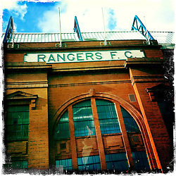 Ibrox, Rangers FC..Hipstamatic images taken on an Apple iPhone..©Michael Schofield.