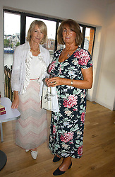 Left to right, SANDRA HOWARD and LADY ANNABEL GOLDSMITH at a party to celebrate the publication of Glass Houses by Sandra Howard held at Tamesa, Oxo Tower Wharf, Barge House Street, London SE1 on 5th September 2006.<br /><br />NON EXCLUSIVE - WORLD RIGHTS
