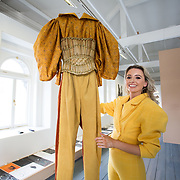"""18.05.2018.          <br /> More than 500 people attended the flagship event of the inaugural Unwrap LSAD Fashion Festival in Limerick.<br /> <br /> Graduate Aoife McNamara, Mungret Co. Limerick is pictured with her Design, Anáil (breath).<br /> <br /> The Limerick School of Art & Design, LIT, Fashion Design Graduate Exhibition and launch of the """"The Fashion Film"""" at Limerick City Gallery of Art, in partnership with EVA International, attracted hundreds of people from the world of fashion. <br /> <br /> A total of 27 fashion graduates presented their designs alongside the specially commissioned film by fashion stylist and creative director Kieran Kilgallon and videographer Albert Hooi. Picture: Alan Place"""