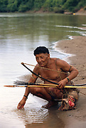 Yaminahua Indian and Hunted Peccary<br />