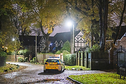 © Licensed to London News Pictures . Salford , UK . FILE PICTURE DATED just after midnight on 02/11/2020 of police parked on Chatsworth Road , Worsley , in close approximation to the driveway gate for number 19 , from where police officers were later seen exiting . Today , 23rd April 2021 , Ryan Giggs (dob 29/11/1973) has been charged with causing actual bodily harm to a woman in her 30s and common assault of a woman in her 20s in relation to incidents that took place on the evening of Sunday 1st November 2020 and has further been charged with one count of coercive and of controlling behaviour between December 2017 and November 2020 . Photo credit : Joel Goodman/LNP