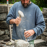 Master Stone Mason, Kevin Fife.<br /> <br /> All Content is Copyright of Kathie Fife Photography. Downloading, copying and using images without permission is a violation of Copyright.