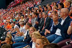 15-09-2019 NED: EC Volleyball 2019 Netherlands - poland, Rotterdam<br /> First round group D / VIP, Peter Sprenger, Aleksandar Boricic, Bas van de Goor and Joop Alberda