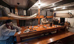 Mess room on RSS Discovery ship berthed at Discovery Point  in Dundee ,Tayside, Scotland,