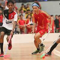 Yishun Sports Hall, Friday, April 1, 2016 — East View Secondary (EVS) eventually saw off Bukit Merah Secondary (BMS) in a 5–3 thriller to book a spot in the final of the National B Division Boys Floorball Championship.