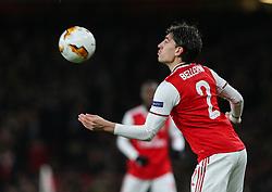 Hector Bellerin of Arsenal controls the ball - Mandatory by-line: Arron Gent/JMP - 27/02/2020 - FOOTBALL - Emirates Stadium - London, England - Arsenal v Olympiacos - UEFA Europa League Round of 32 second leg