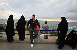 GEO reporter Christian Schule is seen on the Corniche, a walkway along the Mediterranean Sea, in Beirut, Lebanon, March 26, 2006.