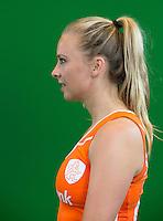 DEN BOSCH -  JACKY SCHOENAKER  . Nederlands Hockeyteam  voor nieuwe platform Hockey.nl.    FOTO KOEN SUYK