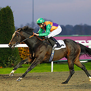 National Service and Sean Levey winning the 4.00 race