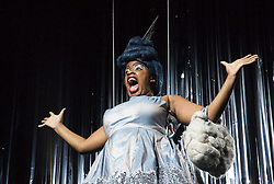 "© Licensed to London News Pictures. 1212/2011. London. UK. Sandra Bee as Fairy Godmother. The Panto ""Cinderella""  opens at the Theatre Royal Stratford East, London. Photo credit: Bettina Strenske/LNP"