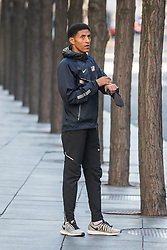 Girma Macheso, USA, Nike, prepares for training run