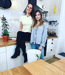 """Cathy Fischer releases a photo on Instagram with the following caption: """"Morgen im @fruehstuecksfernsehen zeigen @paulinapan und ich euch was wir so angestellt haben als wir zusammen die K\u00fcche unsicher gemacht haben. \ud83e\udd23\ud83d\udc4c\ud83c\udffc\ud83d\ude05 Schaltet ein \ud83d\ude0d\ud83c\udf08\ud83d\udc8b"""". Photo Credit: Instagram *** No USA Distribution *** For Editorial Use Only *** Not to be Published in Books or Photo Books ***  Please note: Fees charged by the agency are for the agency's services only, and do not, nor are they intended to, convey to the user any ownership of Copyright or License in the material. The agency does not claim any ownership including but not limited to Copyright or License in the attached material. By publishing this material you expressly agree to indemnify and to hold the agency and its directors, shareholders and employees harmless from any loss, claims, damages, demands, expenses (including legal fees), or any causes of action or allegation against the agency arising out of or connected in any way with publication of the material."""