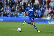 Joe Bennett of Cardiff city in action. EFL Skybet championship match, Cardiff city v Sheffield Wednesday at the Cardiff City Stadium in Cardiff, South Wales on Saturday 16th September 2017.<br /> pic by Andrew Orchard, Andrew Orchard sports photography.