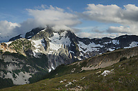 North face of Whatcom Peak seen from Red Face Mountain, North Cascades National Park