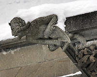Gargoyles Outside Nidaros Cathedral in Trondheim, Norway. Image taken with a Nikon D2xs and 80-400 mm VR lens (ISO 400, 300 mm, f/5.6, 1/160 sec)