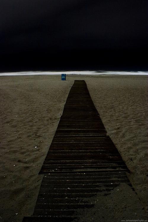Casino lights Illuminate the beach, as tropical storm hannah makes landfall, Atlantic City New Jersey.