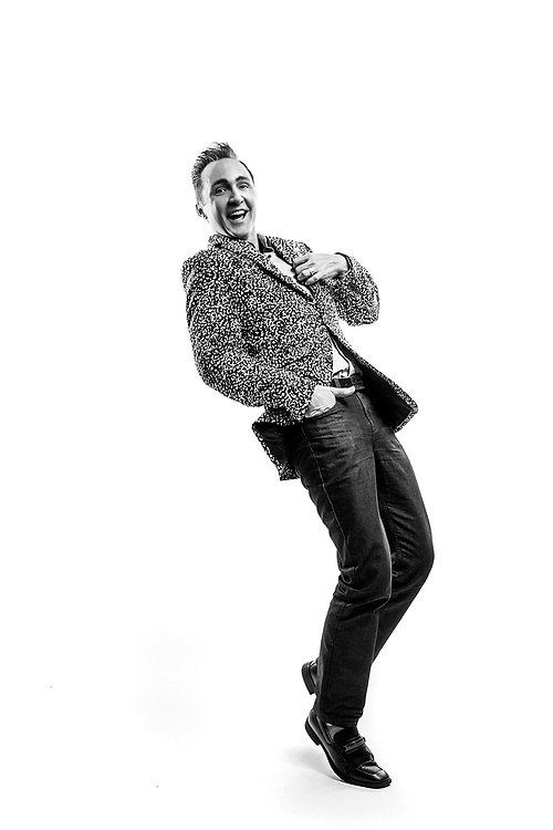 Fashion portrait of a male in studio. Photo by Brandon Alms Photography