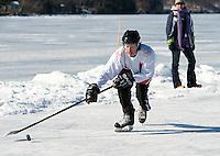 New England Pond Hockey Classic on Lake Waukewan Meredith, NH February 5, 2012.