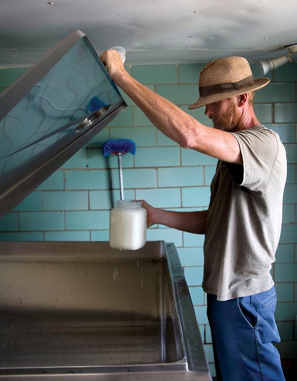 Nick Nolan of Laurel Valley Creamery near Galipolis. (Will Shilling/CRAVE)