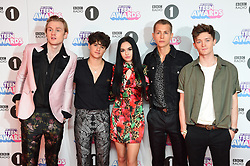 The Vamps and Maggie Lindemann attending the BBC Radio 1 Teen Wards, at Wembley Arena, London. Picture date: Sunday October 22nd, 2017. Photo credit should read: Matt Crossick/ EMPICS Entertainment.