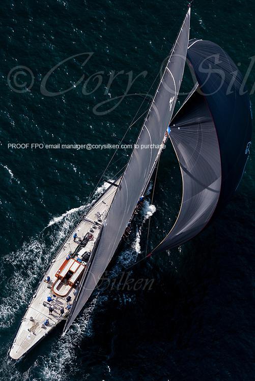 Hanuman sailing in the J Class World Championship.