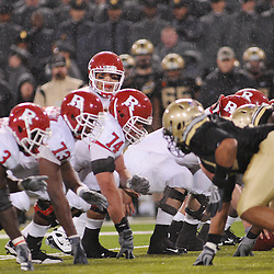 Oct 23, 2009; West Point, N.Y., USA; Rutgers quarterback Tom Savage (7) lines up under center during Rutgers' 27 - 10 victory over Army at Michie Stadium.