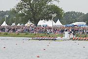 Eton Dorney, Windsor, Great Britain,..2012 London Olympic Regatta, Dorney Lake. Eton Rowing Centre, Berkshire[ Rowing]...Description;  Men's Eights Final...GBR.M8+ Alex PARTRIDGE (b) , James FOAD (2) , Tom RANSLEY (3) , Richard EGINGTON (4) , Mohamed SBIHI (5) , Greg SEARLE (6) , Matt LANGRIDGE (7) , Constantine LOULOUDIS (s) , Phelan HILL (c).USA.M8+ David BANKS (b) , Grant JAMES (2) , Ross JAMES (3) , William MILLER (4) , Giuseppe LANZONE (5) , Stephen KASPRZYK (6) , Jacob CORNELIUS (7) , Brett NEWLIN (s) , Zachary VLAHOS (c).NED.M8+. Sjoerd HAMBURGER (b) , Diederik SIMON (2) , Rogier BLINK (3) , Matthijs VELLENGA (4) , Roel BRAAS (5) , Jozef KLAASSEN (6) , Olivier SIEGELAAR (7) , Mitchel STEENMAN (s) , Peter WIERSUM (c)Dorney Lake. ..12:35:10  Wednesday  01/08/2012..[Mandatory Credit: Peter Spurrier/Intersport Images].
