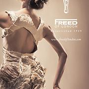 Misa Kuranaga of Boston Ballet for Freed of London Ad Campaign. Pointe shoe dress by Alexis Mondragon.