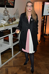 DAISY DE VILLENEUVE at the unveiling of a Very Special Malone Souliers Christmas Tree, In Support Of Starlight Children's Foundation held at The Club Cafe Royal, Regent Street, London on 2nd December 2015.