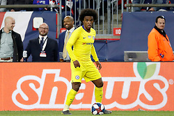May 15, 2019 - Foxborough, MA, U.S. - FOXBOROUGH, MA - MAY 15: Chelsea FC forward Willian (22) during the Final Whistle on Hate match between the New England Revolution and Chelsea Football Club on May 15, 2019, at Gillette Stadium in Foxborough, Massachusetts. (Photo by Fred Kfoury III/Icon Sportswire) (Credit Image: © Fred Kfoury Iii/Icon SMI via ZUMA Press)